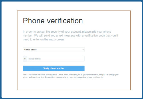 Twitter Sign Up Phone Number